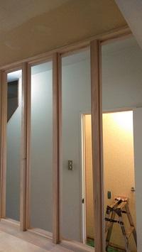 キッチン~廊下壁